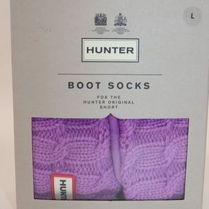 NIB HUNTER Size Large Purple SHORT Boot Sock